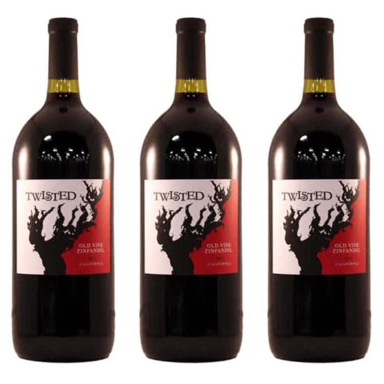 TWISTED CALIFORNIA OLD VINE ZINFANDEL WINE 1.5 L