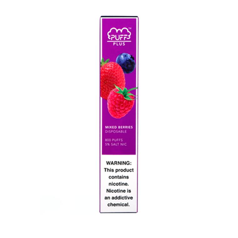 Puff Bar-Plus Mixed Berries Disposable E-Cigs 800 Puffs