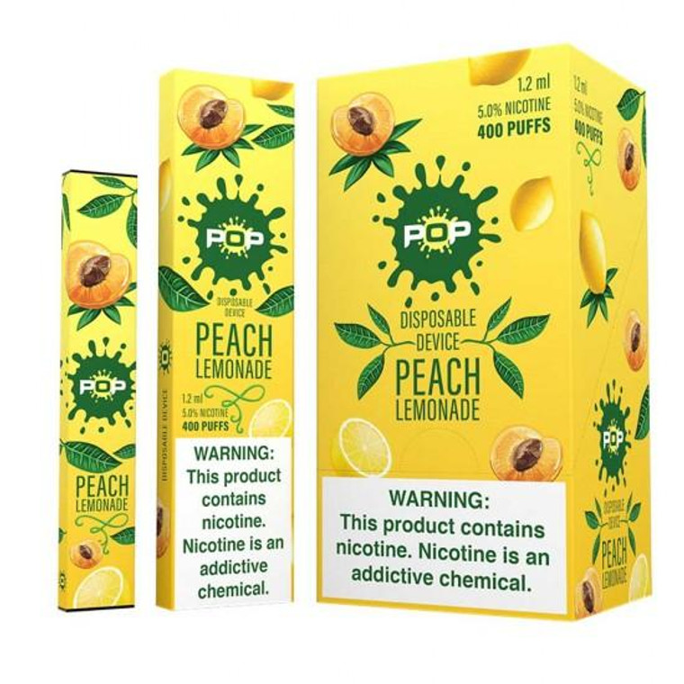 Pop Disposable Peach Lemonade Pod Vape Device