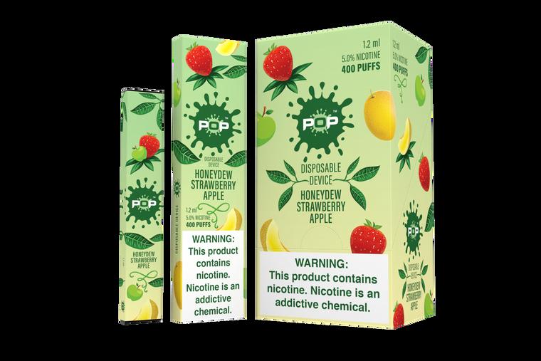 Pop Disposable Honeydew Strawberry Apple Pod Vape Device