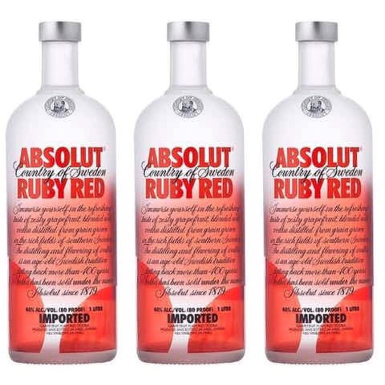 Absolut Ruby Red Flavor Vodka 1.75 L