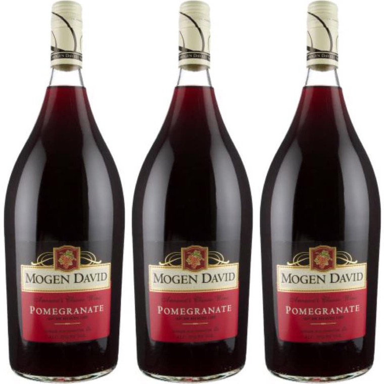 MOGEN DAVID POMEGRANATE KOSHER WINE 1.5 L