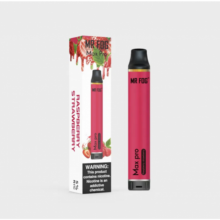 MR FOG MAX PRO - RASPBERRY STRAWBERRY 1700 PUFF