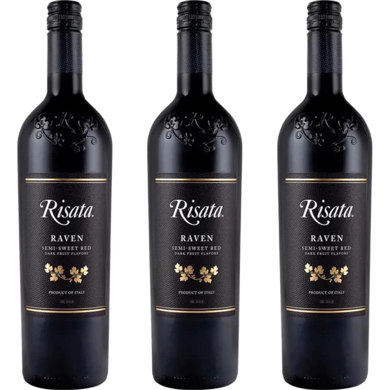 RISATA RAVEN SEMI-SWEET RED WINE 750 ML
