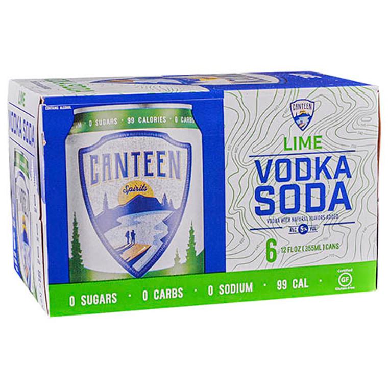 Canteen Lime Vodka Soda 12 Oz / 4 Pack