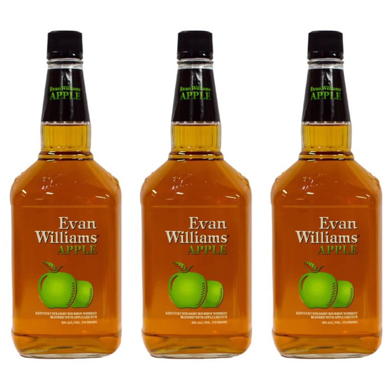 EVAN WILLIAM APPLE FLAVORED WHISKEY 1.75 L