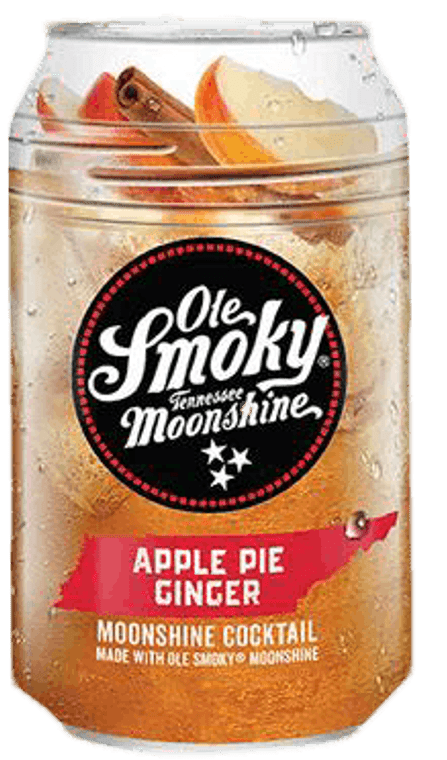 OLE SMOKY MOONSHINE APPLE PIE GINGER COCKTAILS 12 OZ / 4 PACK