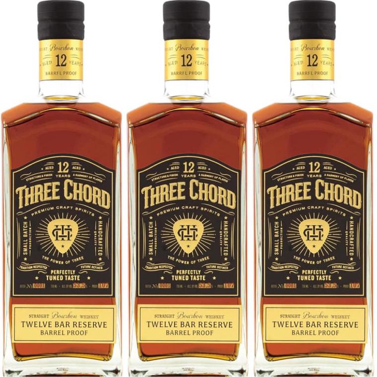 THREE CHORD TWELVE BAR RESERVE BARREL PROOF BOURBON WHISKEY 750 ML