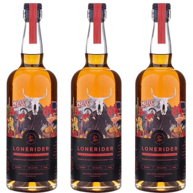 LONERIDER SHERRY CASK FINISHED BOURBON 750 ML