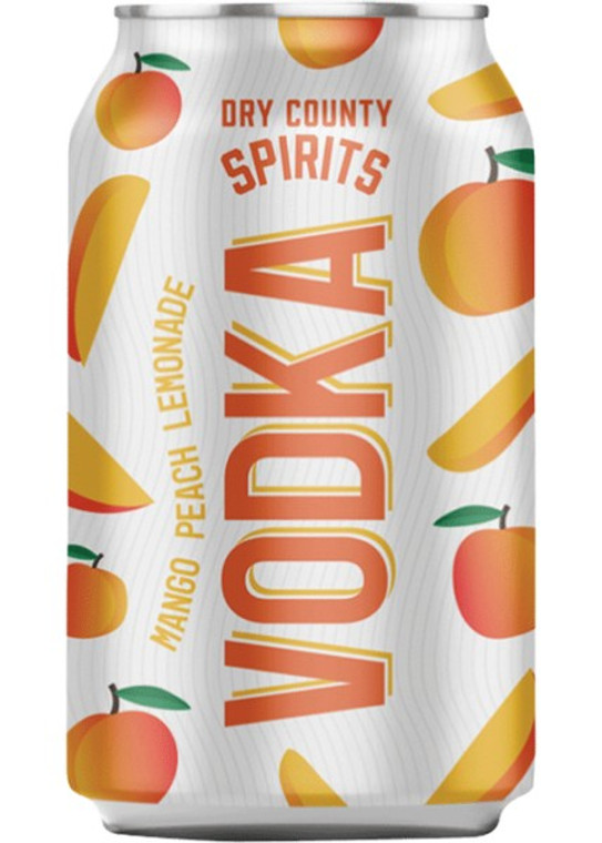 Dry County - Peach Mango Lemonade Vodka 12 oz / 6 pack cans