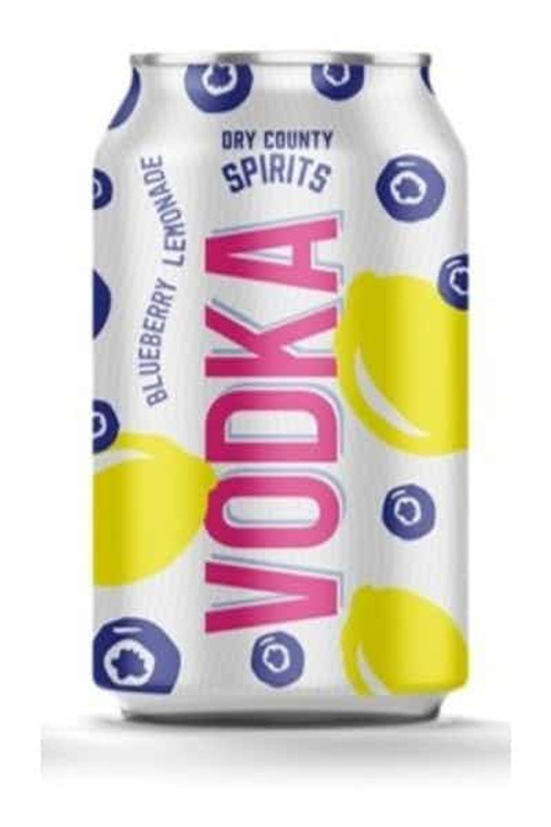 Dry County - Blueberry Lemonade Vodka 12 oz / 6 pack cans