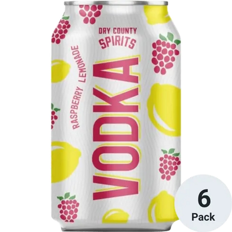 Dry County - Rasberry Lemonade Vodka 12 oz / 6 pack cans