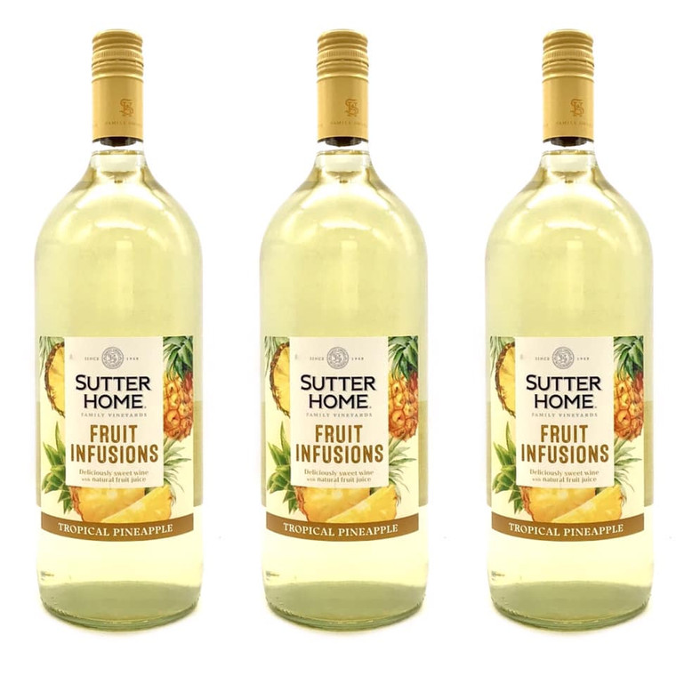 SUTTER HOME FRUIT INFUSIONS TROPICAL PINEAPPLE WINE 1.5 L