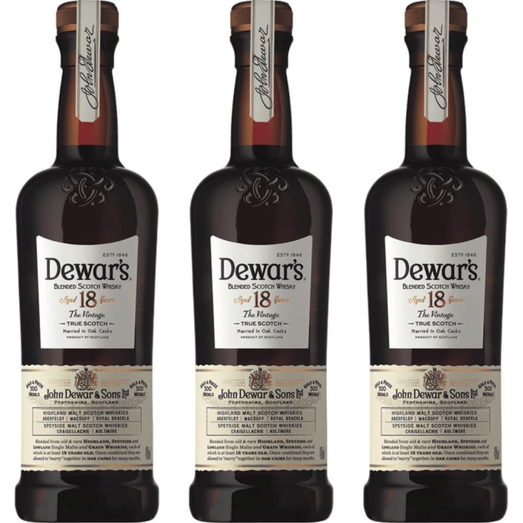 Dewar's 18 Yr Old Blended Scotch Whiskey 750 ml