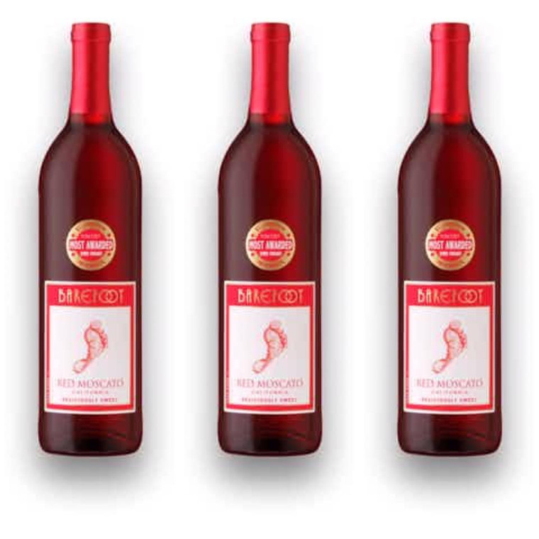 Barefoot Cellars Red Moscato Wine, 750 mL