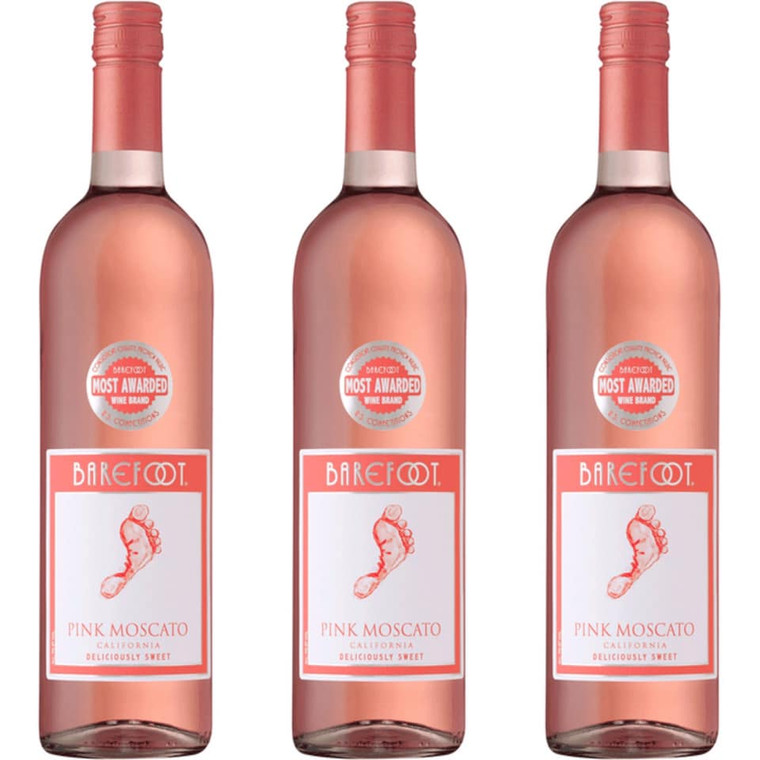 Barefoot Cellars Pink Moscato Wine, 750 mL