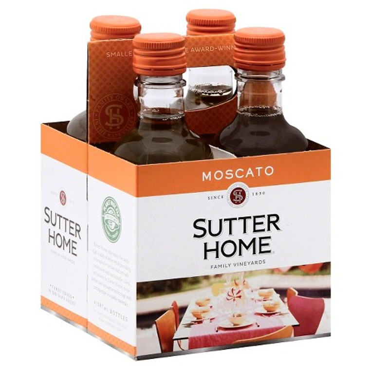 Sutter Home Moscato Wine, 4 pack, 187 mL