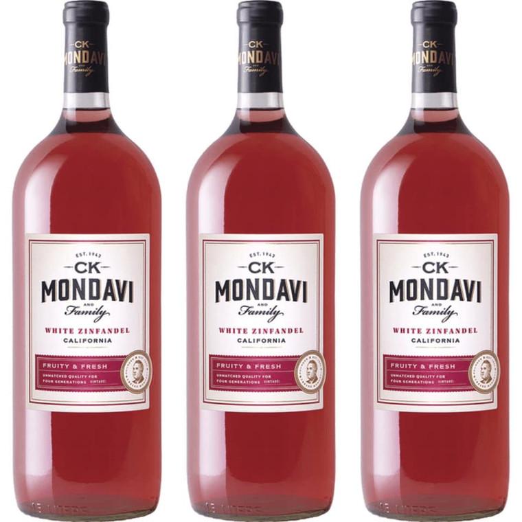 CK MONDAVI WHITE ZINFANDEL WINE  1.5L