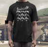 Suicide T shirt  band  on black Alan Vega 23 minutes over brussels cheree