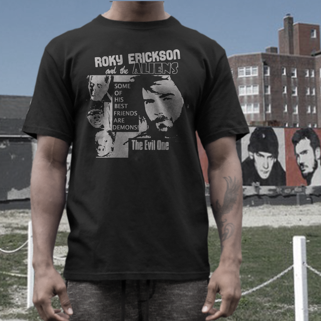 Roky Erickson demons band short sleeve  t shirt the aliens 13th floor elevators easter everywhere