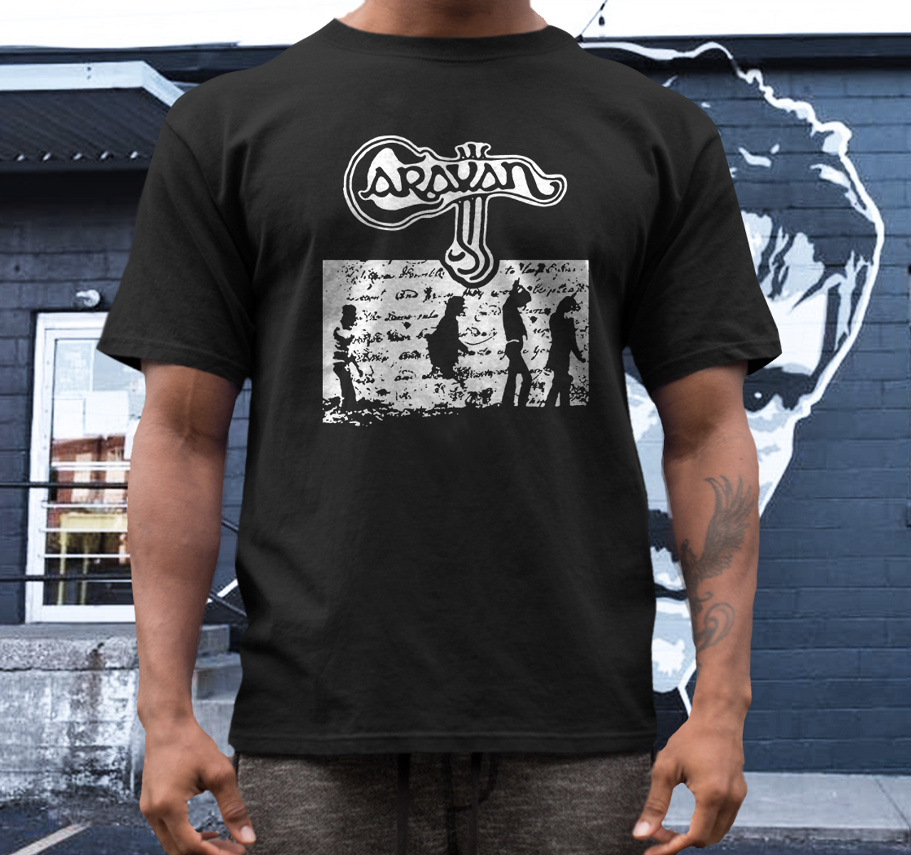 caravan band t shirt