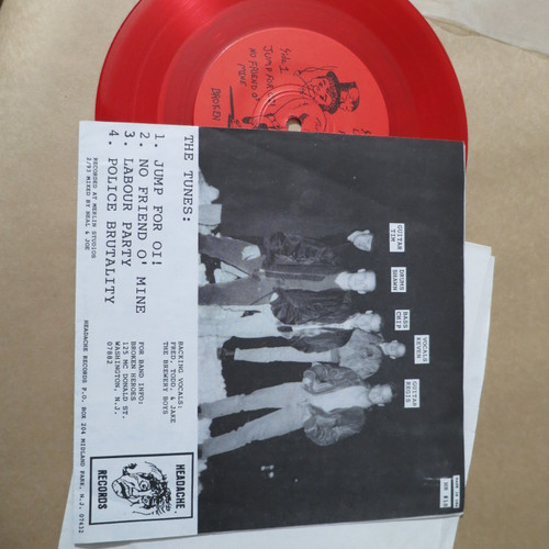 """Broken Heroes 7"""" Jump For Oi! 1993 headache records NJ punk oi  Red"""