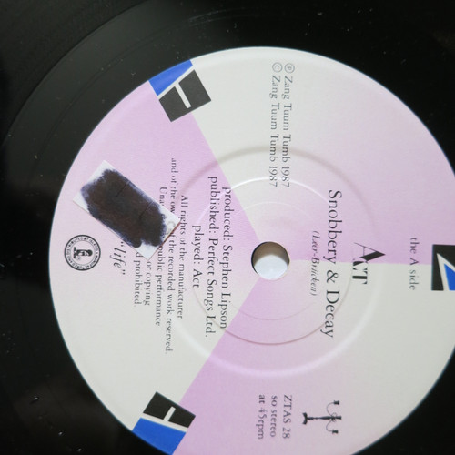 "Act 7""  Snobbery & Decay 1987"