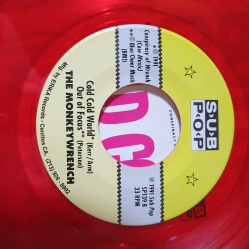"The Monkeywrench 7"" Bottle Up And Go 1992 mark arm  tim Kerr red vinyl sub pop"