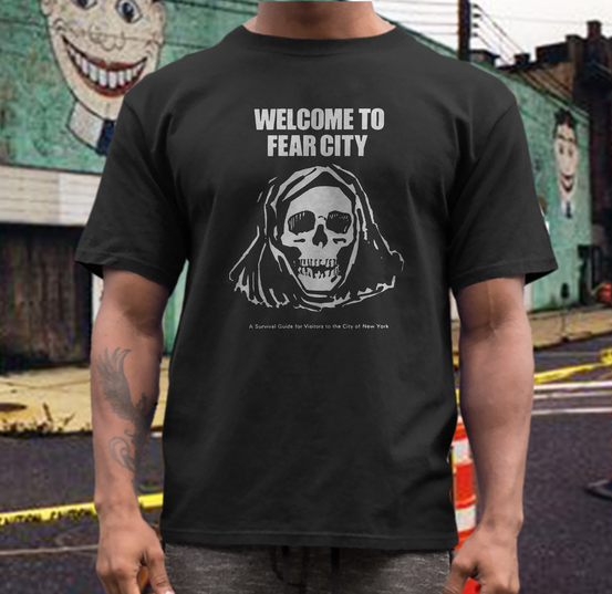 Welcome to Fear City  shirt cult  NYC   70s survival guide pamphlet