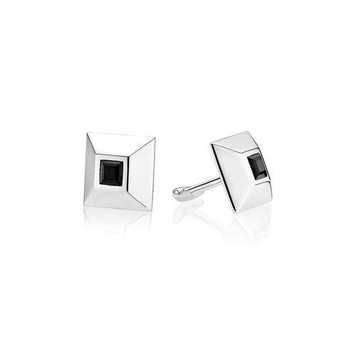 Utzon Jewellery Copenhagen – Smykker – Manchetknapper i sølv med sort onyx
