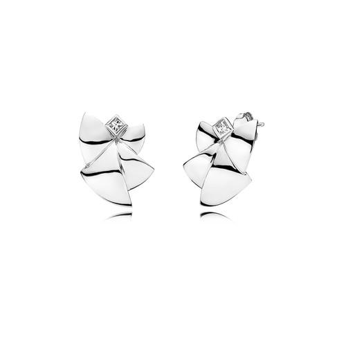 Utzon Jewellery Copenhagen – Smykker – Angel of Purity øreringe i sølv med hvid topas