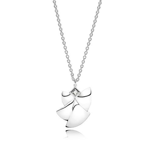 Utzon Jewellery Copenhagen – Smykker – Angel of Purity halskæde i sølv med hvid topas