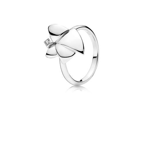 Utzon Jewellery Copenhagen – Smykker – Angel of Purity ring i sølv med hvid topas
