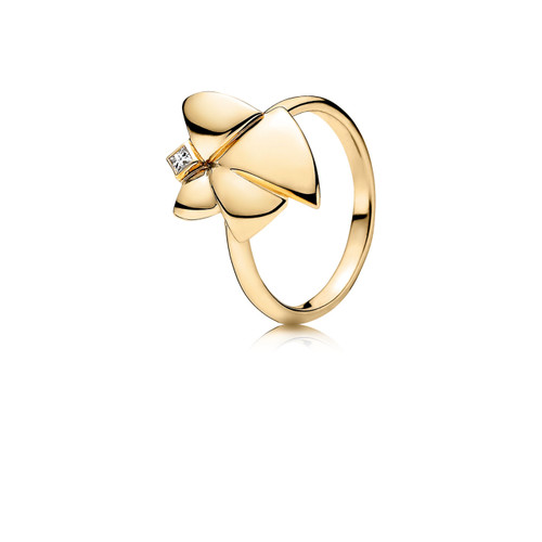 Utzon Jewellery Copenhagen – Smykker – Angel of Purity ring i 18 karat guld med brillant