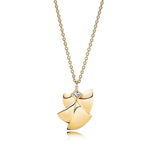 Utzon Jewellery Copenhagen – Smykker – Angel of Purity halskæde i 18 karat guld med Top Wesselton brillanter