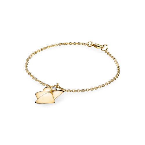Utzon Jewellery Copenhagen – Smykker – Angel of purity armbånd i guld med Top Wesselton brillanter