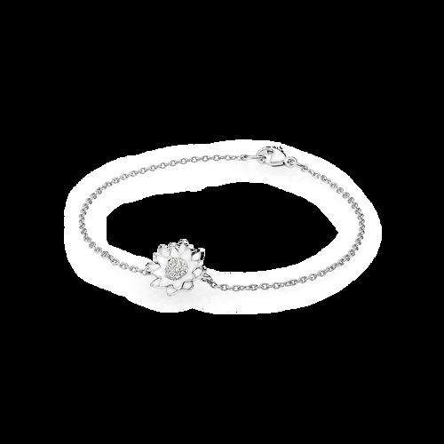 Lotus armbånd - brillanter i 18K hvidguld