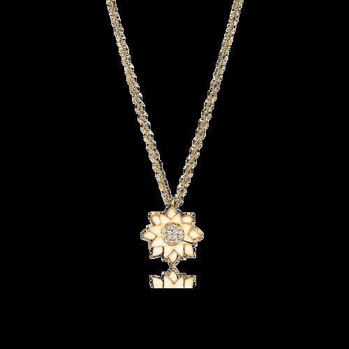Lotus halskæde - brillanter i 18K guld