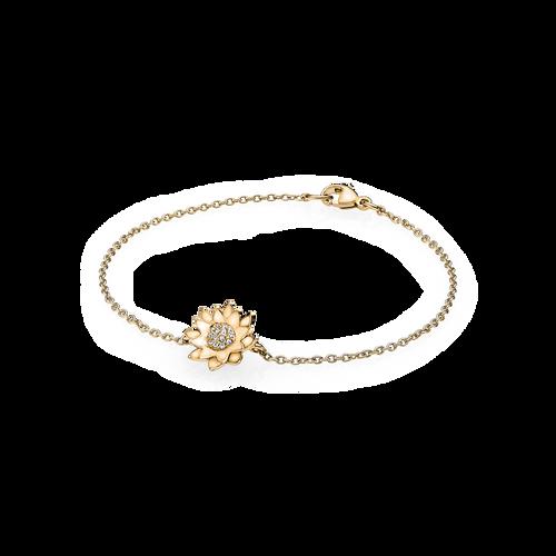 Utzon Jewellery Copenhagen - Lotus armbånd - brillanter i 18K guld