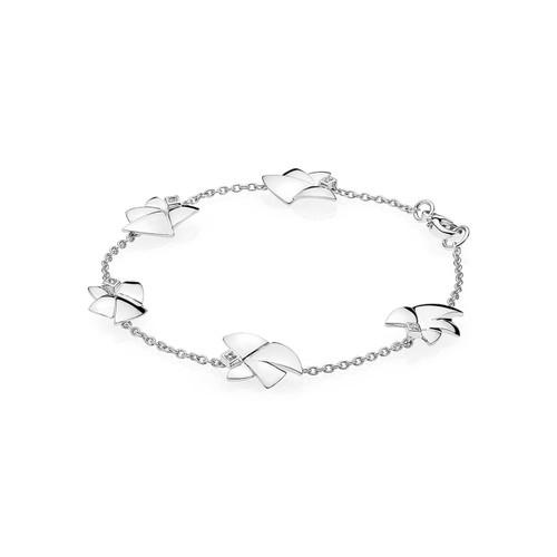 Utzon Jewellery Copenhagen – Smykker – Angel of Purity armbånd med fem engle i sølv med topas