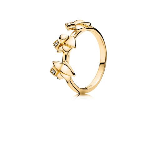 Utzon Jewellery Copenhagen – Smykker – Three Angels of Purity i guld/brillant