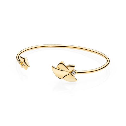 Utzon Jewellery Copenhagen – Smykker – Angel of Purity armring i 18 karat guld med G/vs brillanter