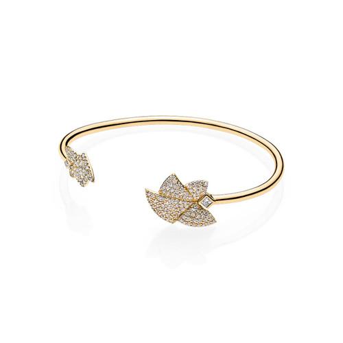 Utzon Jewellery Copenhagen – Smykker – Angel of Purity armring i 18 karat guld med Top Wesselton brillanter