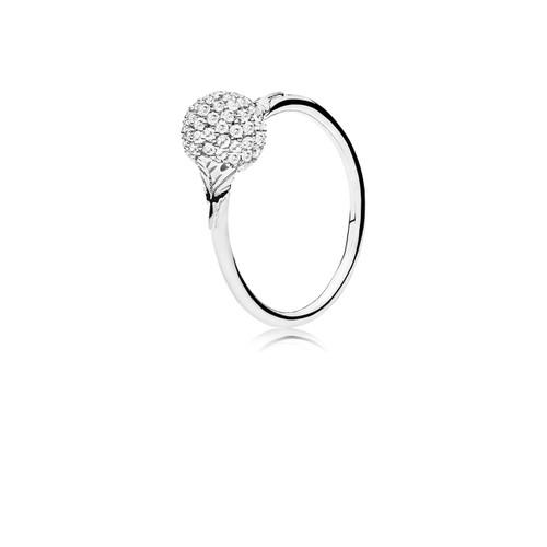 Utzon Jewellery Copenhagen – Smykker – Sphere ring i sølv/hvid safir