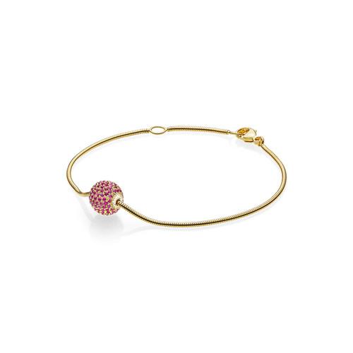 Utzon Jewellery Copenhagen – Smykker – Sphere armbånd i guld/rubin
