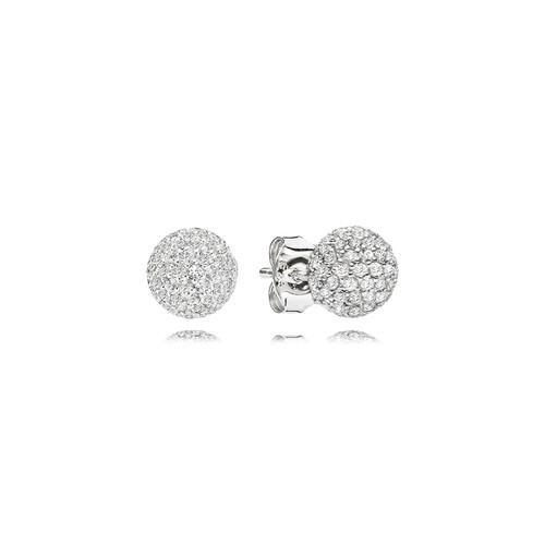 Utzon Jewellery Copenhagen – Smykker – Sphere øreringe i sølv med hvid safir