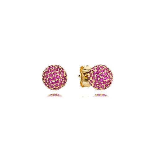 Utzon Jewellery Copenhagen - Smykker - Sphere øreringe i guld med rubiner