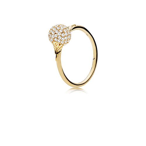 Utzon Jewellery Copenhagen - Smykker - Sphere ring i guld med brillanter
