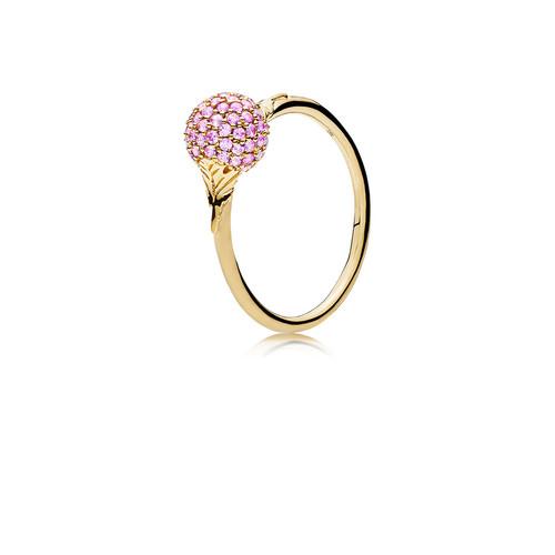 Utzon Jewellery Copenhagen - Smykker - Sphere ring i guld med pink safir