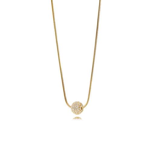 Utzon Jewellery Copenhagen - Smykker - Sphere halskæde i guld med brillanter